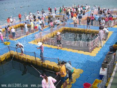 水上游泳池,网箱养殖,浮筒