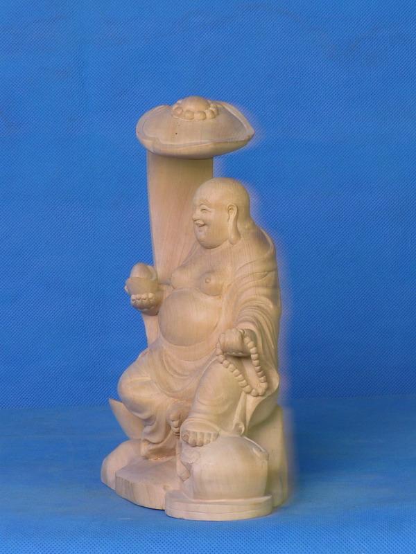 黄杨木雕_日本佛像