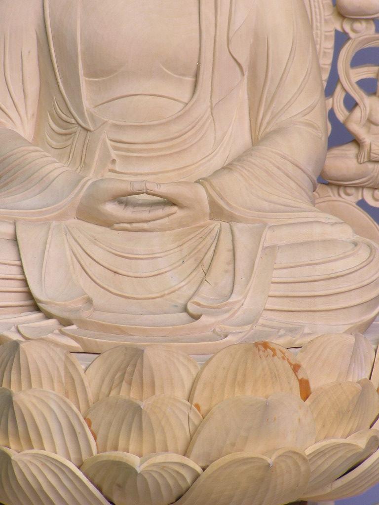 木雕佛像坐释迦如来