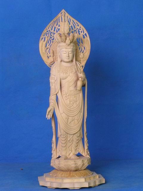 木雕佛像十一面圣观音