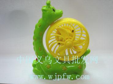 供应卡通电动风扇_动物风扇