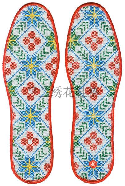 十字绣鞋垫批发 电脑绣花鞋垫 绣花鞋垫花样 绣花鞋垫图案