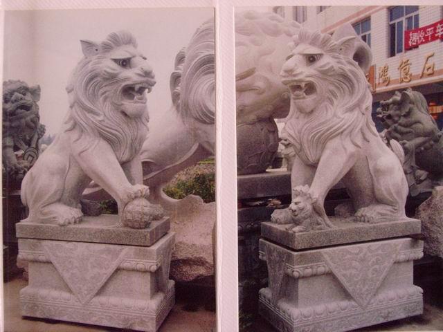 供应石雕,石狮,狗狮,古狮,怪狮,非洲狮 石雕动物