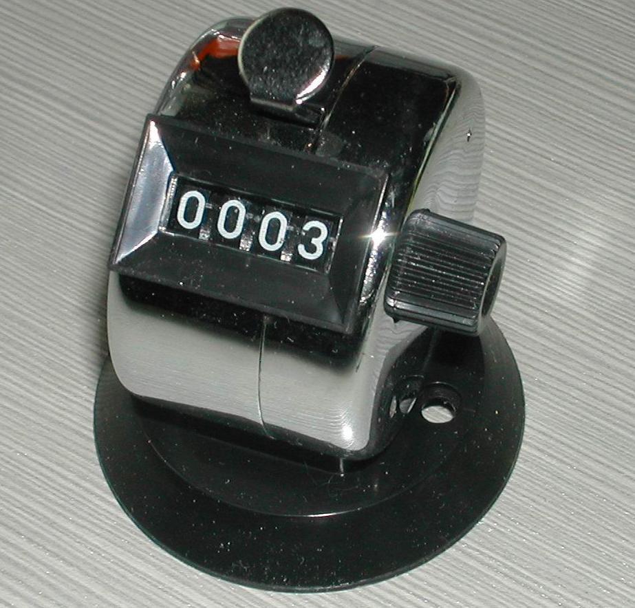 四位带底座手动计数器