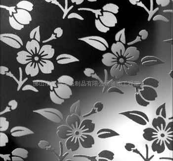 镜面花纹蚀刻板_彩色不锈钢板