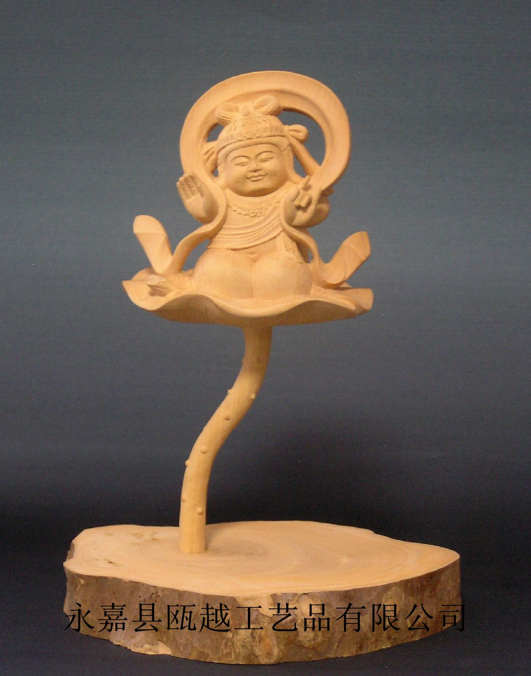 供应黄杨木雕佛像童子观音