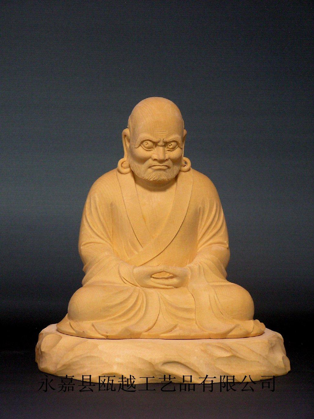 供应木雕日本佛像达摩