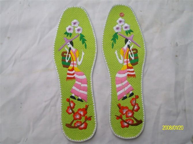 电脑绣花鞋垫