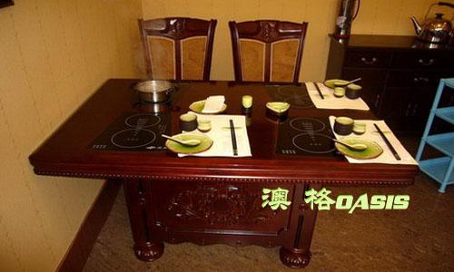 供应电磁炉火锅桌