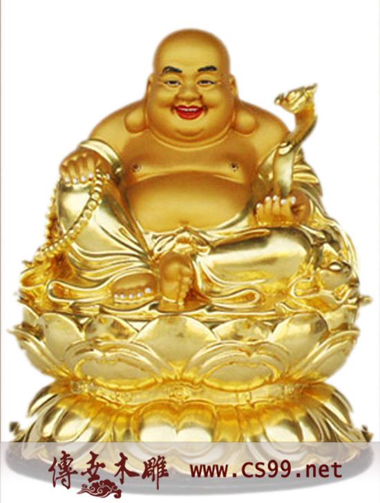 玻璃钢佛像 弥勒佛 木雕佛像 彩绘佛像 贴金佛像