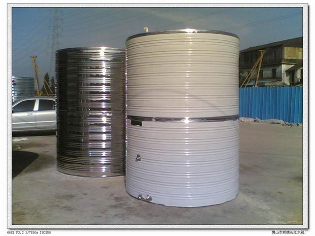 南京绿源不锈钢圆柱形水箱