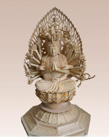 木雕佛像 千手观音 十八罗汉 阿弥陀佛
