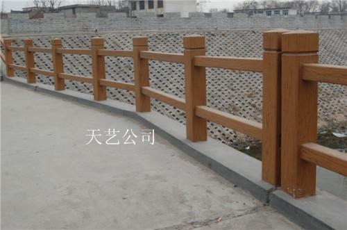 仿木护栏 仿木围栏 围栏模具 河堤护栏 河道围栏 围栏厂家