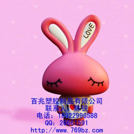 供应公仔储存罐*爱心兔注塑公仔*可爱love兔公仔*甜点