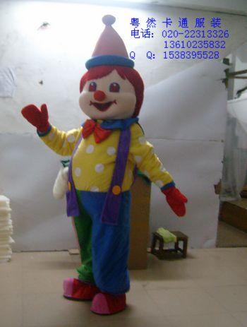 马戏团可爱逗笑小丑卡通人偶表演服装