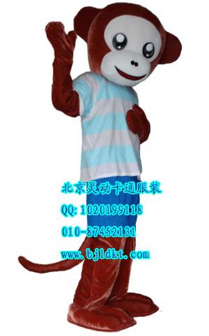 供应出售北京灵动卡通服装,吉林卡通人偶,小猴 行走卡通人偶 充气气模
