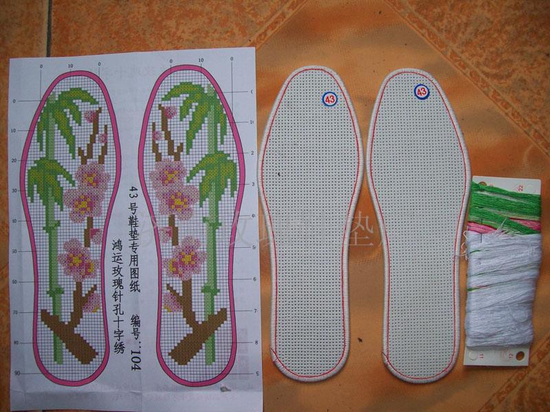 十字绣鞋垫—蓝玫瑰系列