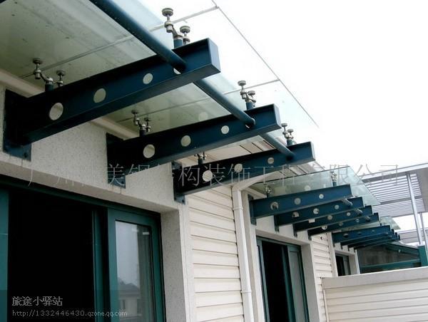 供应钢结构玻璃雨棚,阳光板雨篷