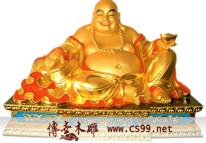供应木雕佛像+树脂佛像+彩绘佛像+寺庙彩绘 弥勒佛