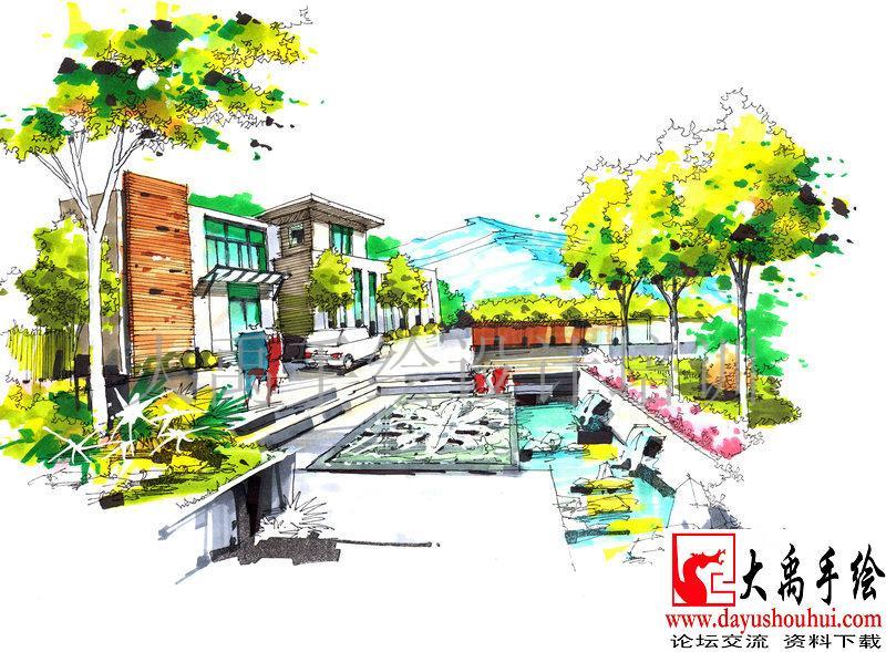 城市规划手绘培训,园林景观手绘培训