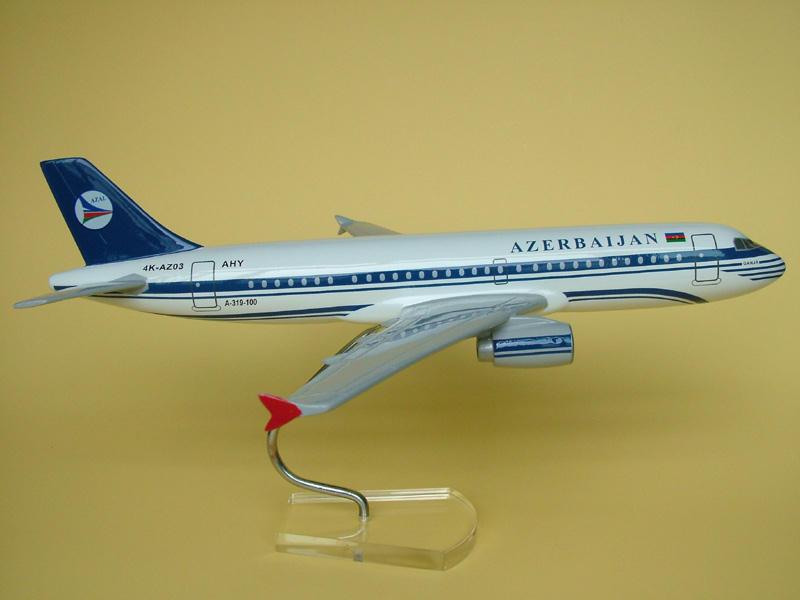 阿塞拜疆319 飞机模型 航空模型 模型玩具