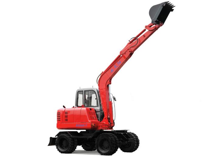 全液压轮胎式挖掘机