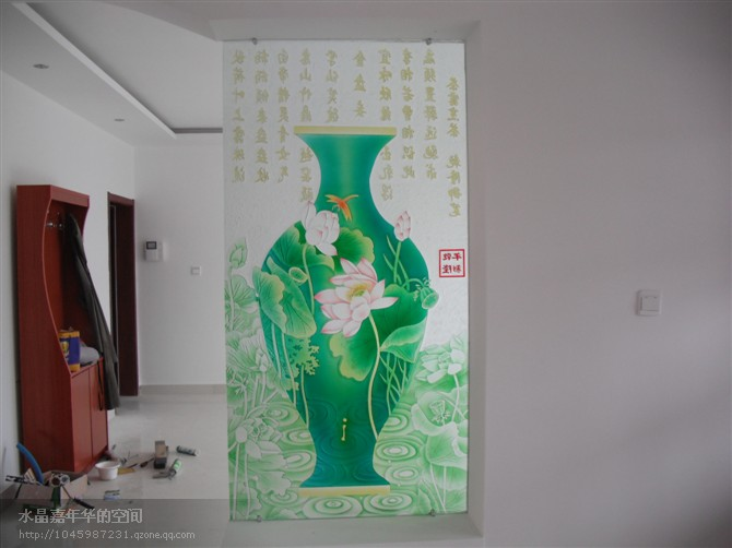 供应艺术玻璃影视墙,艺术玄关 高清图片