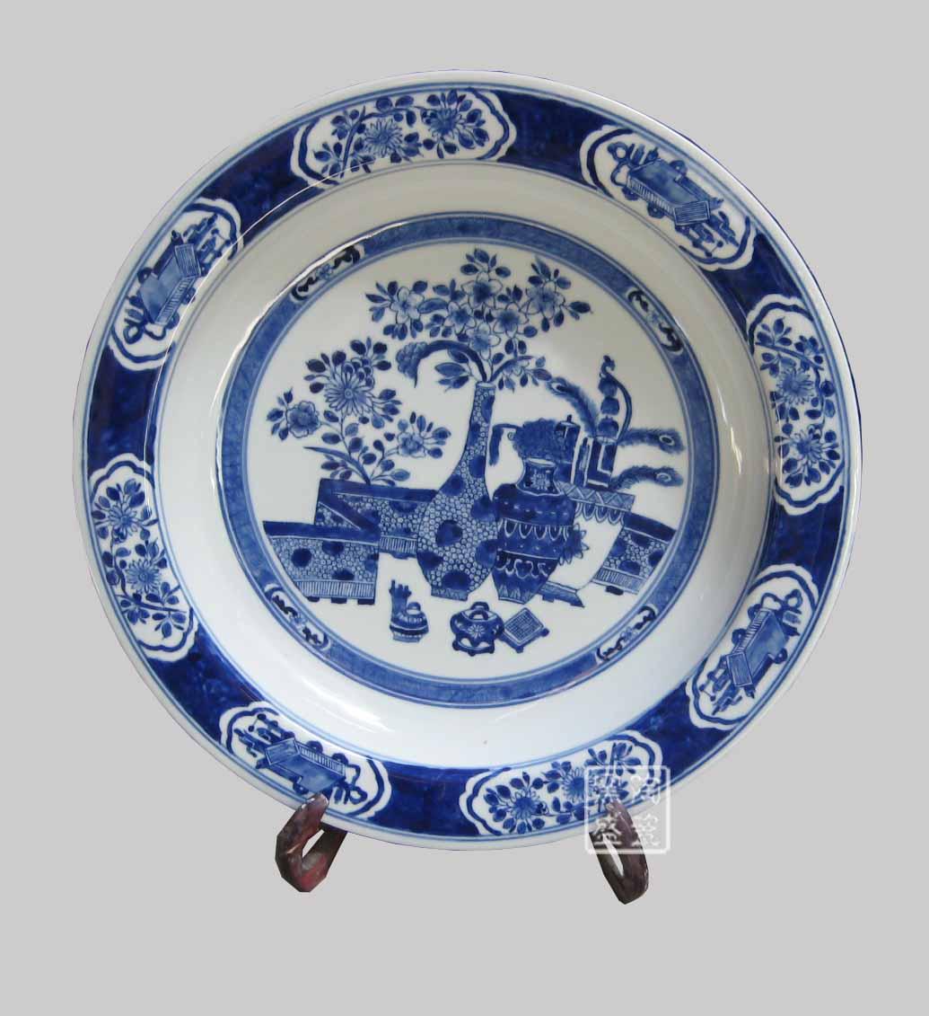 供应陶瓷盘青花瓷盘手绘青花盘定做