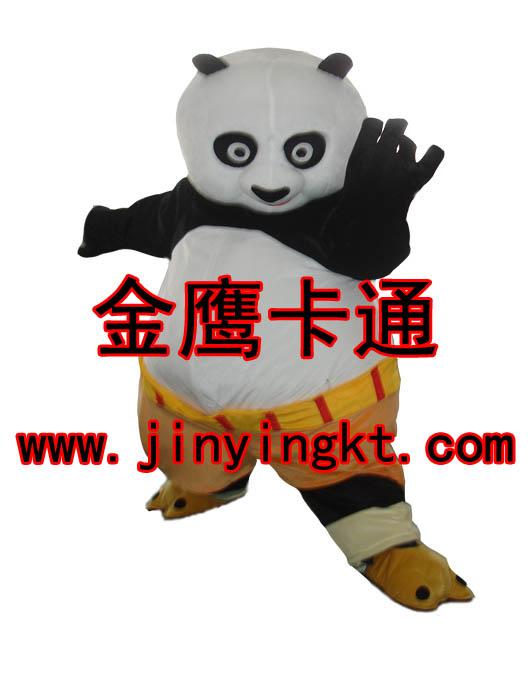 供应卡通服装 道具服装 人偶服装 演出服装功夫熊猫 充气服装 【名称】:功夫熊猫 一:【规格】:适合身高在160-175cm左右人穿,产品人穿进去总高度大概1.9-2M左右,可按照客户的要求去制作,产品一套净重大约:2KG左右包装好重量:2.5KG左右。 二:【材质】:1.产品面料材质主要采用优质毛绒料,如特别要求或定做可以按照客户确认的面料去制作,鞋子采用耐磨型防滑,防臭鞋底。 2.