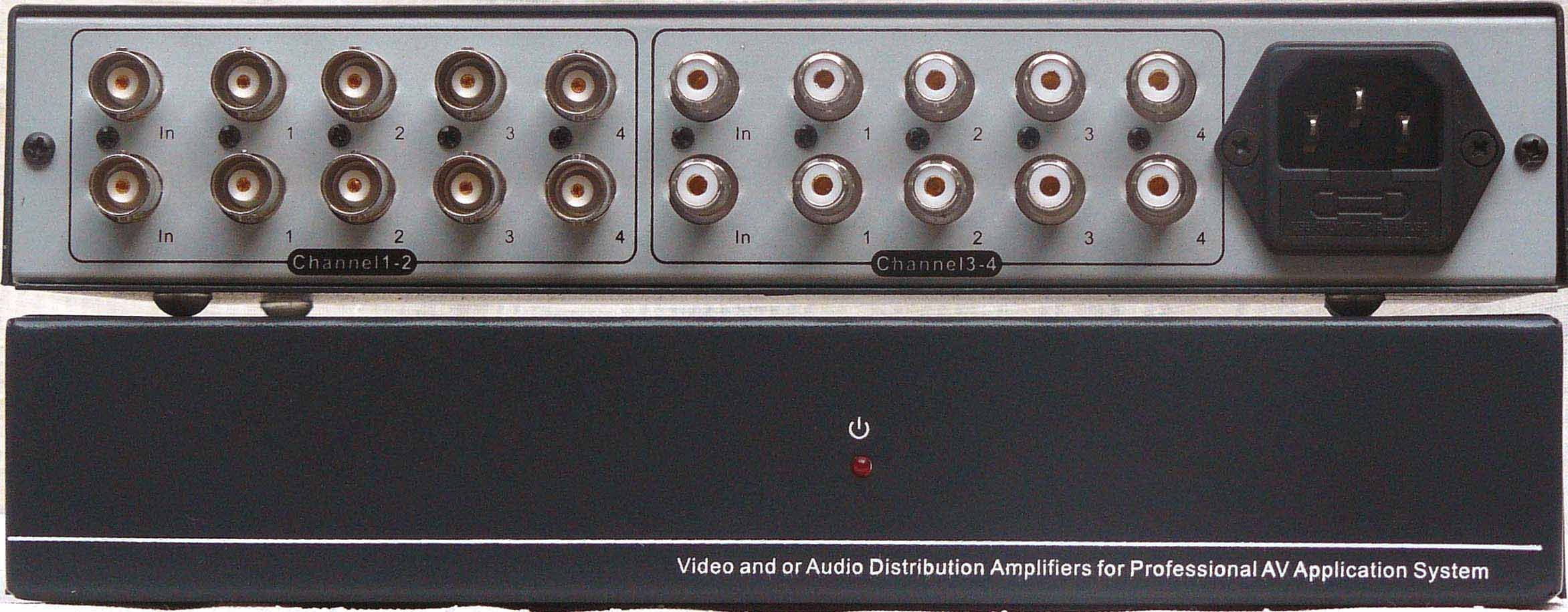 2进8出单声道音视频分配器