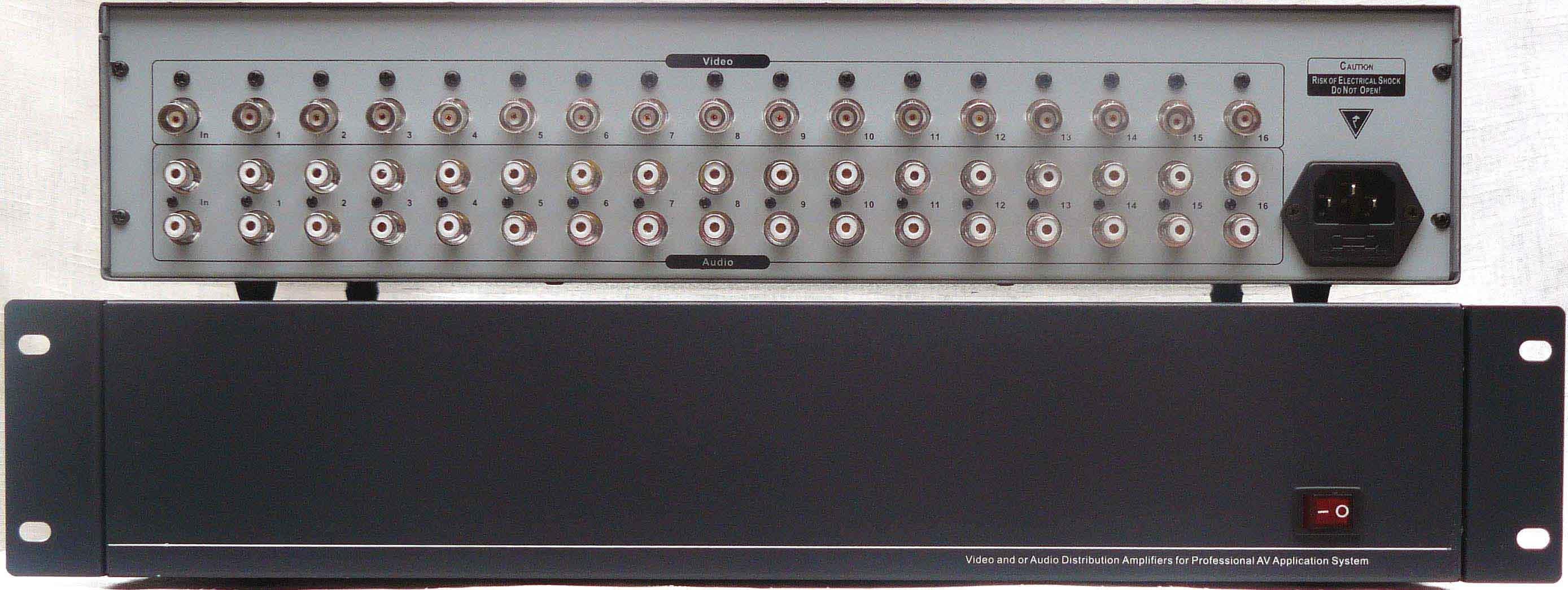 1进16出立体声音视频分配器