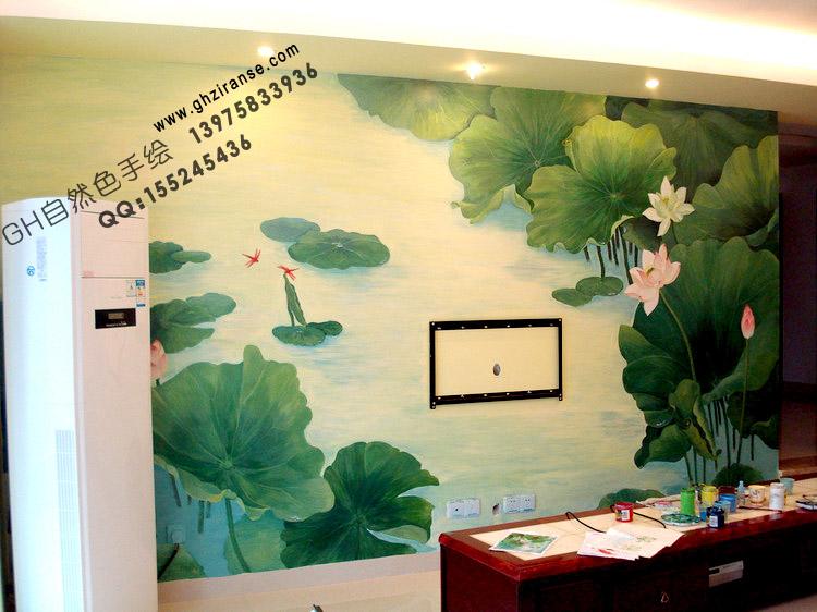 长沙手绘墙_家居手绘墙_幼儿园手绘墙_gh自然色 手绘