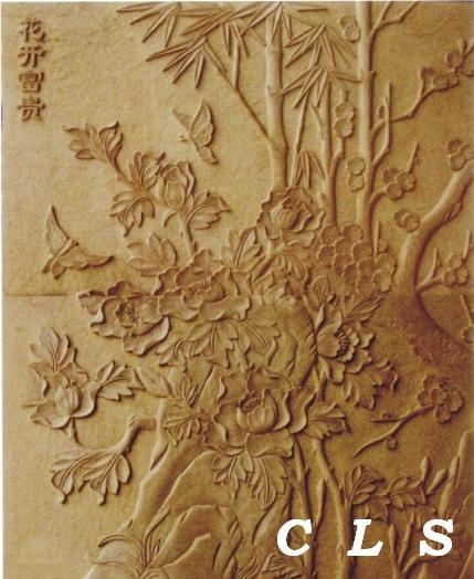 【佛山砂岩公司】紫木纹砂岩-水纹砂岩-砂岩雕塑