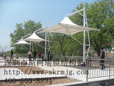 休闲长廊膜结构定制商业街景观亭张拉膜公园休闲亭棚