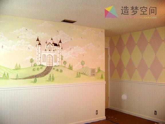 幼儿园手绘墙_幼儿园墙绘