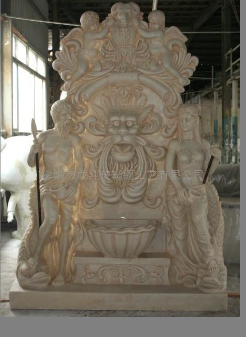 供应玻璃钢喷泉雕塑,广场喷泉