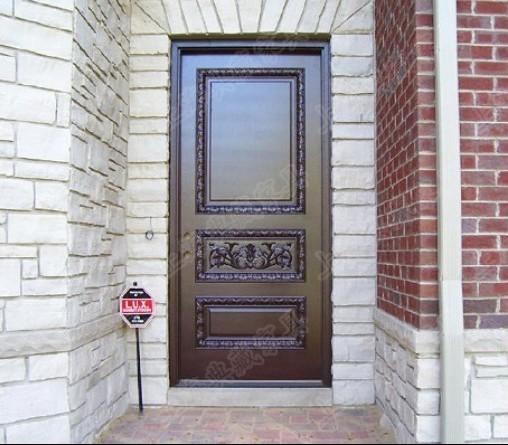 方形单扇入户门 别墅入户门 实木门 家居