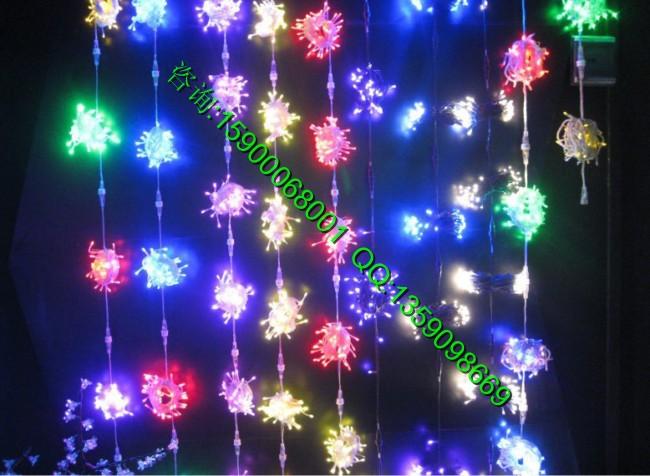 led花样树木装饰星星灯串,节日灯