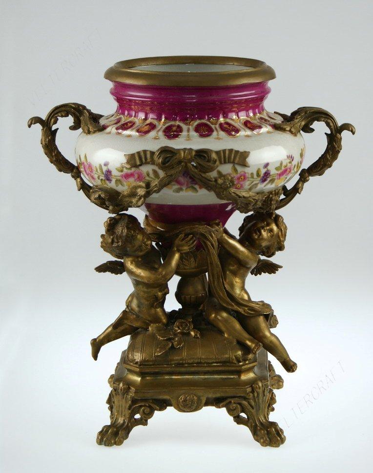 玫瑰天使陶瓷镶铜|欧式家居装饰品|工艺摆件摆设