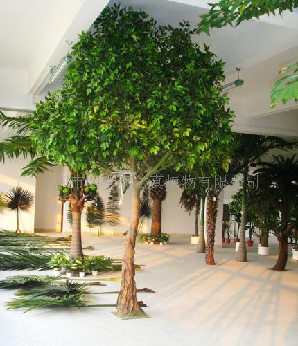 人造植物人造榕树 人造椰子树 人造海藻树