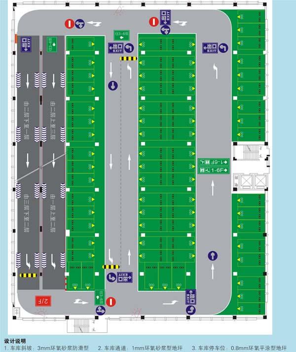 车库平面图设计 停车场系列