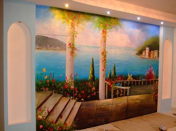 西安手绘墙西安墙体彩绘西安墙体手绘