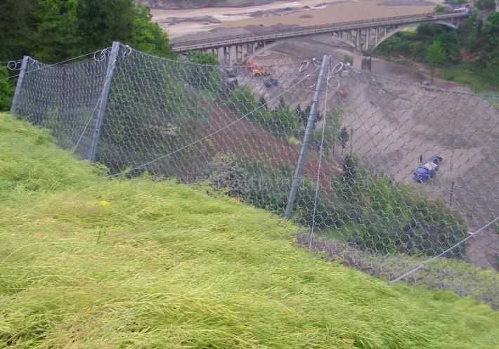 供应热镀锌sns被动防护网专业山坡落石安全防护网-万瑞被动防