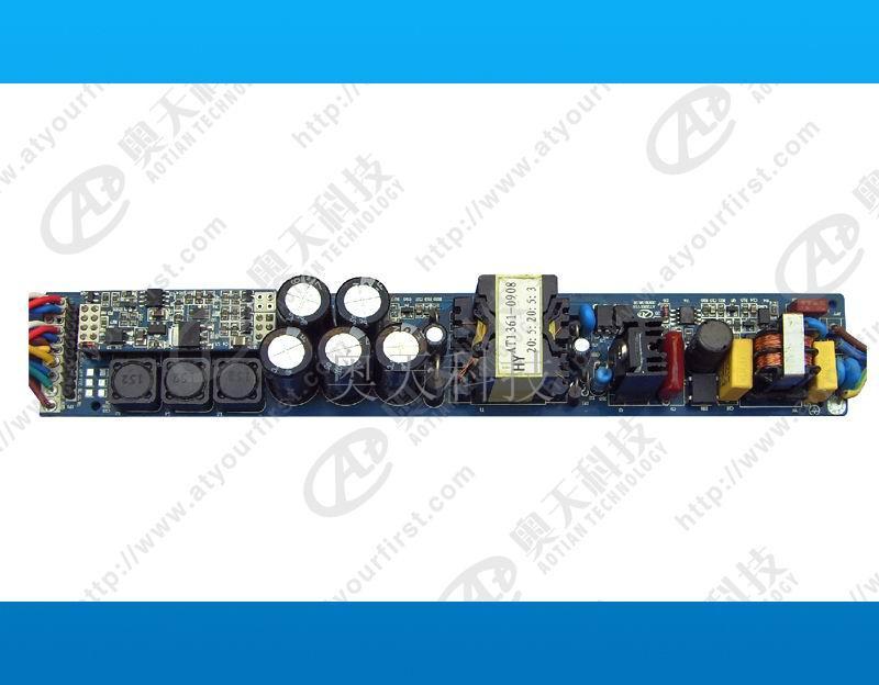 供应DMX512控制器 DMX512电源 LED驱动电源 外空驱动电源 产品概述: ? AT2201A是一款高压交流输入的控制恒流电源,内部自带控制程序,可通过拨码开关的选择实现自动跳变渐变的灯光效果,多组AT2201A可以通过输入电源实现同步动作,适用于驱动大功率变色洗墙灯等灯具。 主要特点: ?