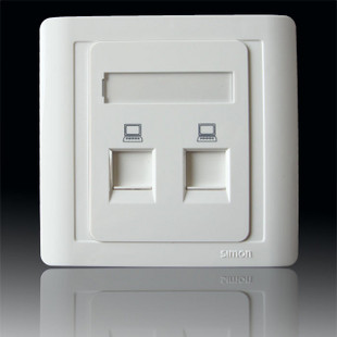 供应西蒙开关插座55系列二位电脑网线插座n55228s