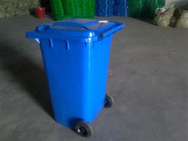 陕西带轮子移动方便的环卫垃圾桶上垃圾车垃圾桶