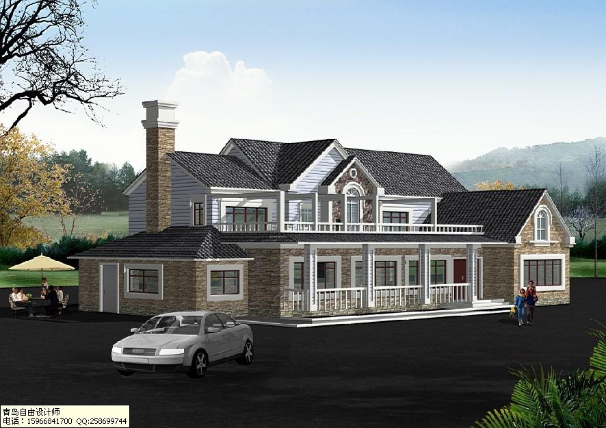 承接农村自建房设计,农村自建房屋效果图设计