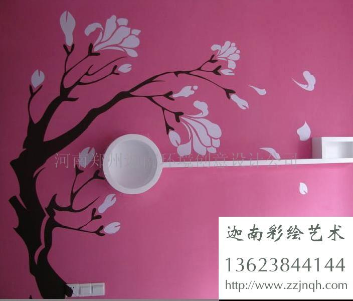 郑州手绘墙,纯手工绘制墙体壁画