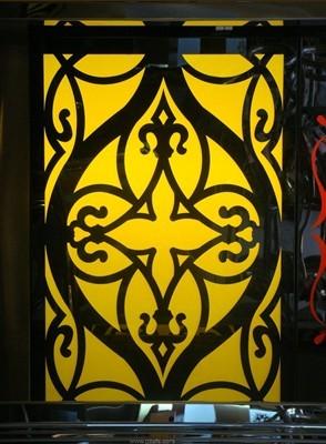 黑钢镂空花纹板_不锈钢工程